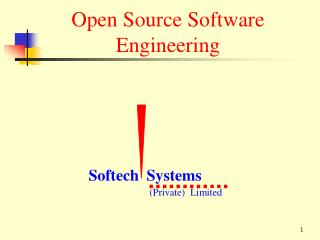 Open Source Software Engineering