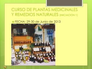 CURSO PLANTAS MEDICINALES