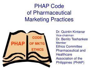 PHAP Code of Pharmaceutical Marketing Practices