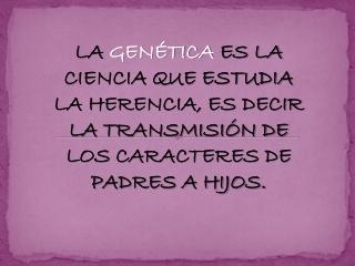 Genética - ADN y ARN