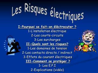 LES RIQUES ELECTRIQUES