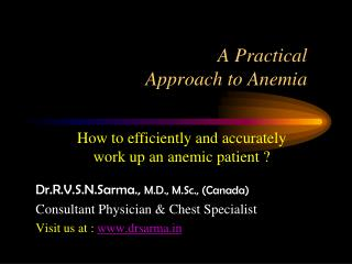 Practical Approach to Anaemia