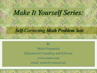 Self-Correcting Math Problem Sets