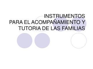 INSTRUMENTOS PARA EL ACOMPA
