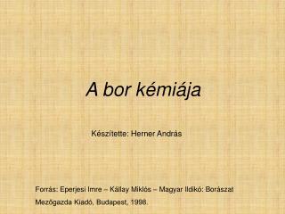 A bor k