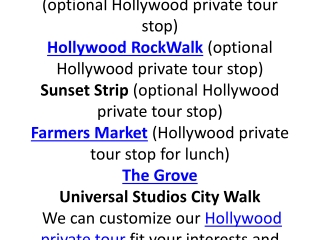 Hollywood Private Tours