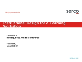 Instructional Design for e-Learning