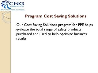 Program Cost Saving Solutions