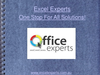 Excel Experts-the One Stop For All Solutions