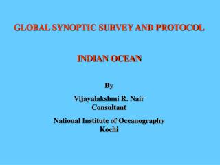 Nair- Indian Ocean survey and protocol