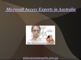 Microsoft Access  Experts in Australia