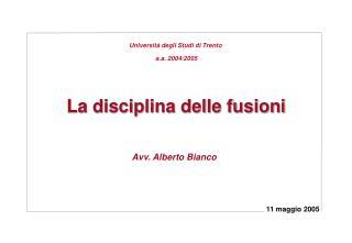 La disciplina delle fusioni