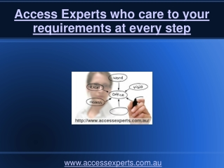 Access Experts who care to your requirements at every step