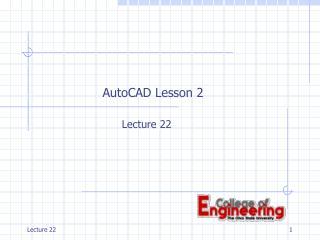 AutoCAD Lesson 2