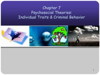Chapter 7 Psychosocial Theories:  Individual Traits  Criminal Behavior