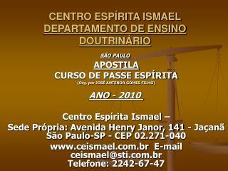 CENTRO ESP RITA ISMAEL DEPARTAMENTO DE ENSINO DOUTRIN RIO