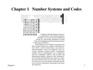 Chapter 1   Number Systems and Codes