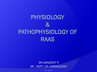 Physiology of RAAS: Focus on Angiotensin