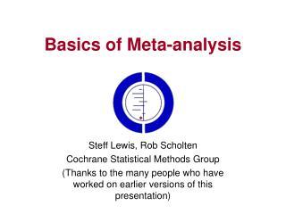 Basics of Meta-analysis