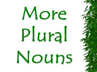 more plural nouns