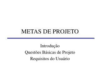 2 METAS DE PROJETO