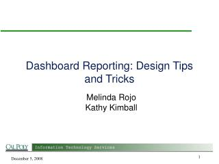 Dashboard Reporting: Design Tips and Tricks