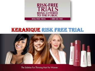 Keranique Risk Free Trial