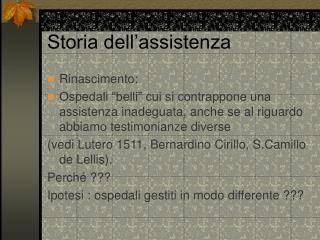 Storia dell assistenza