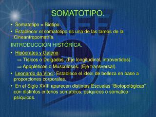 SOMATOTIPO.