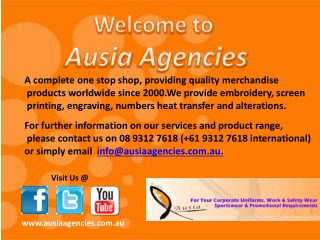 Security Uniforms and Accessories from Ausia Agencies