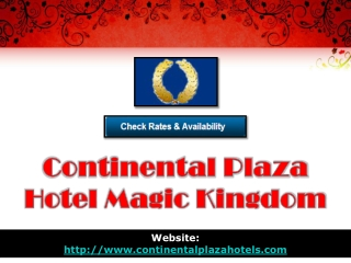 continental plaza hotel magic kingdom