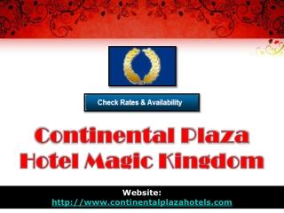 continental plaza hotel magic kingdom
