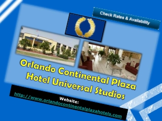 orlando continental plaza hotel universal studios