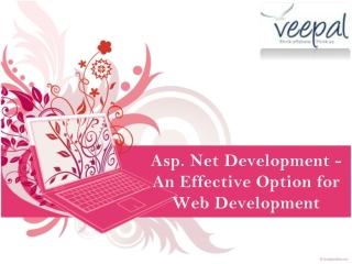 Asp DOT Net Development - An Effective Option for Web Develo