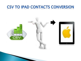 CSV to iPad Address Book Conversion