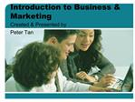 Introduction to Business  Marketing