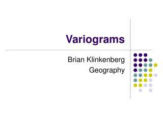 Variograms