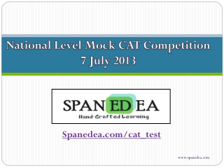 CAT 2013 Free National Level Mock competition