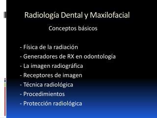 Radiolog a Dental y Maxilofacial
