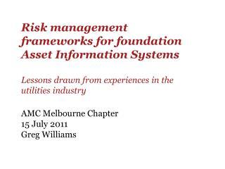 Risk management frameworks for foundation Asset Information ...