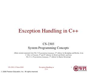 Exception Handling in C