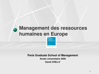 Management des ressources humaines en Europe