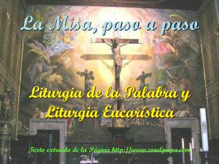Liturgia de la Palabra y Liturgia Eucar stica