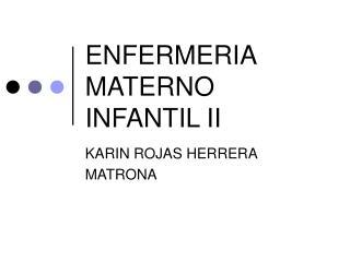 ENFERMERIA MATERNO INFANTIL II