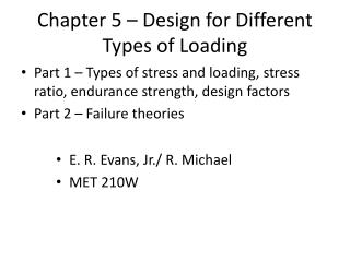 Chapter 5   Design for Different Types of Loading