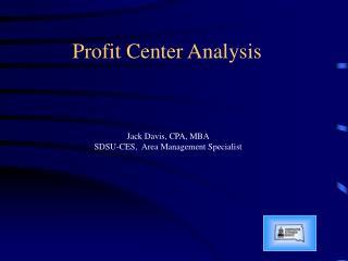 Profit Center Analysis
