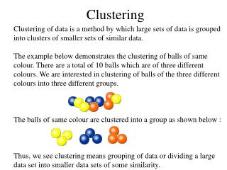 Clustering
