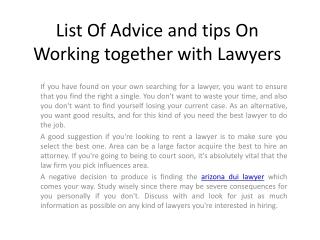 Arizona Dui Lawyer