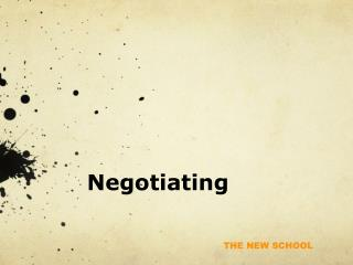 Negotiating and Closing