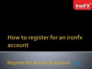 IRON FX Registration